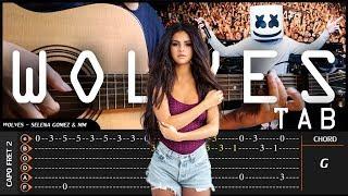Selena Gomez, Marshmello - WOLVES - Cover (Fingerstyle Cover) + TAB Tutorial (Lesson)