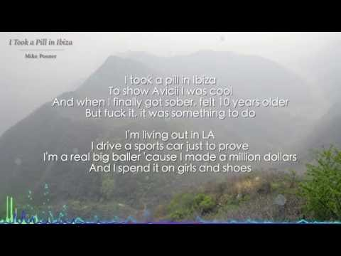 I Took a Pill in Ibiza - Mike Posner (Lyrics)