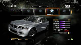 NEED FOR SPEED SHIFT ALL CARS HD