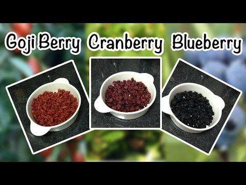 Milagrosas Frutinhas!!! Goji Berry - Cranberry - Blueberry