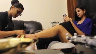 Ritika Badiani hot feet massage through UrbanClap services