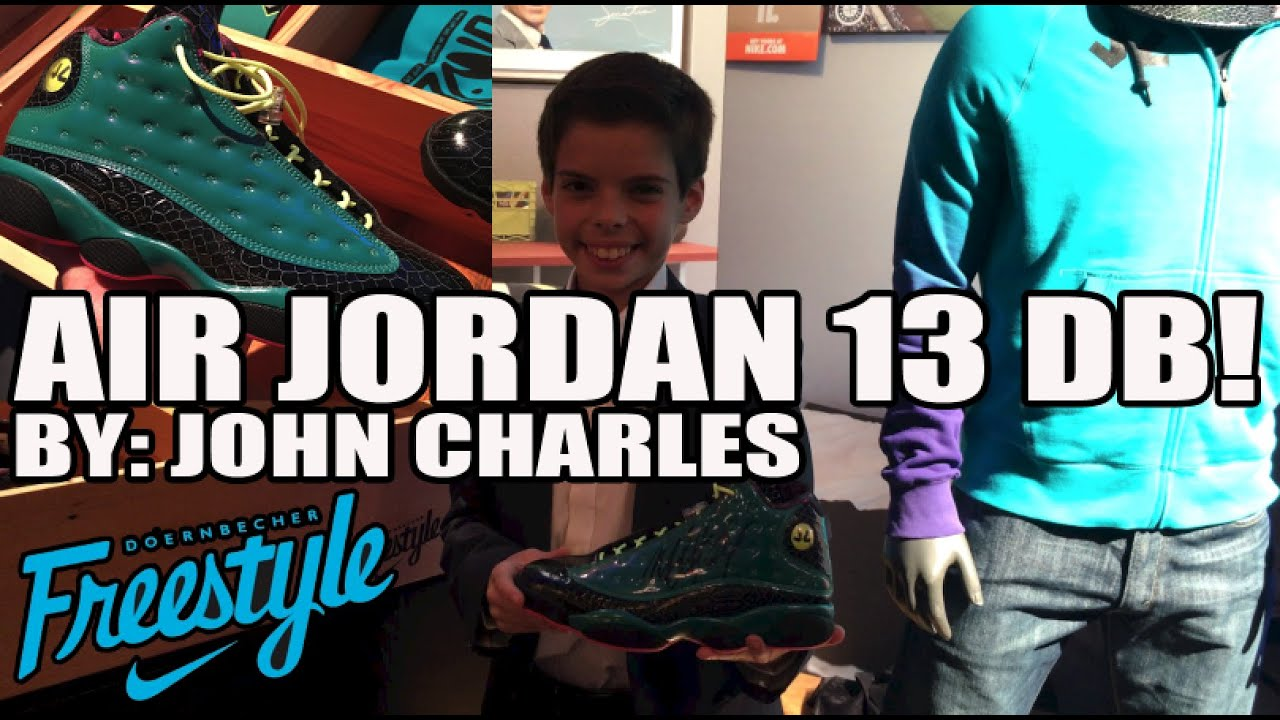 Air Jordan Retro DB 13 XIII w/ John Charles In Hand Review! (Doernbecher Freestyle 12)