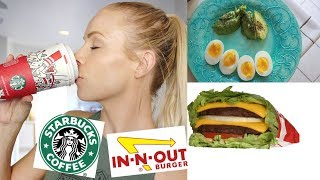 What I Eat in a Day | In-N-Out & Starbucks