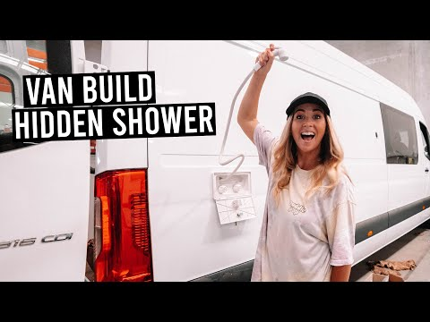 VAN BUILD: Our Hidden Bathroom & Shower Setup