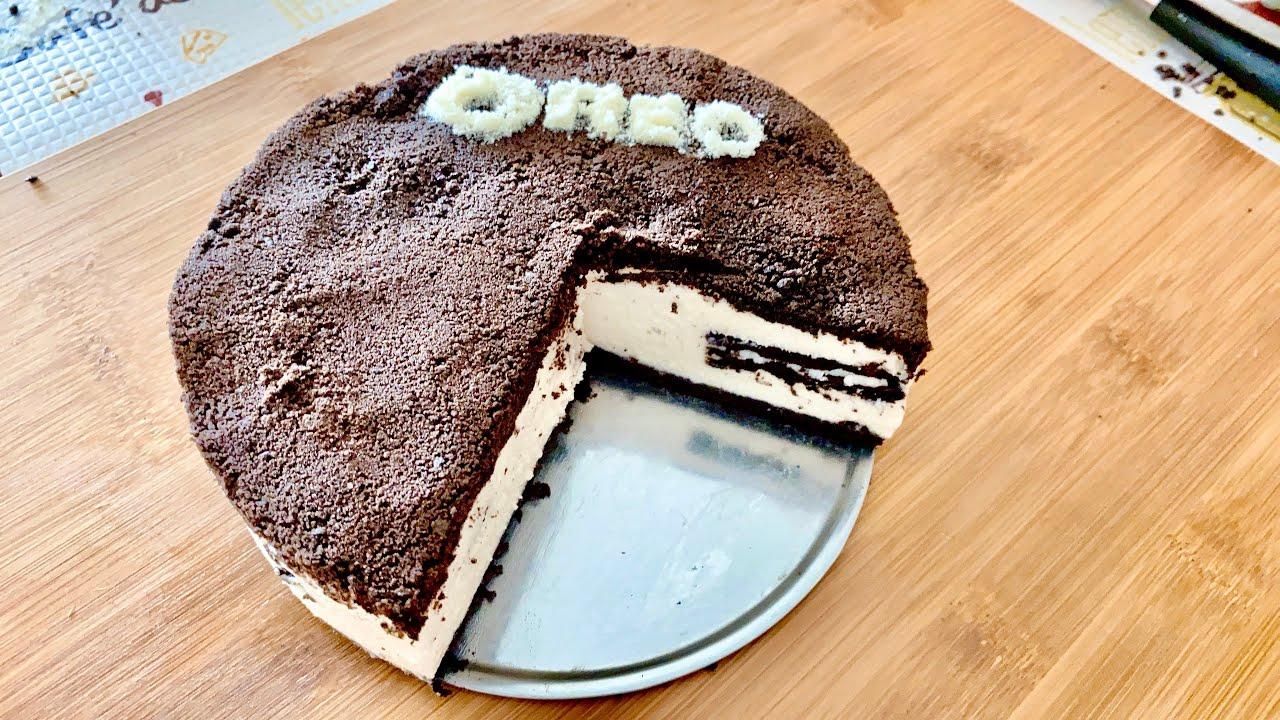Oreo cheese cake (no bake) 免烤奧利奧蛋糕 - YouTube