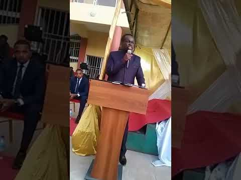 Professor P L O Lumumba talking to the students of the University of The Gambia