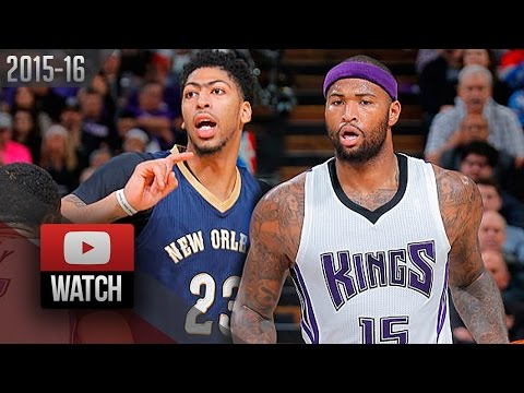 Anthony Davis vs DeMarcus Cousins BEASTS DUEL Highlights (2016.01.13) Kings vs Pelicans - SICK!