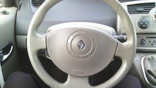снятия руля Renault Scenic 2, Megane 2, снятие подрулевого шлейфа, ошибка сheck airbag, Рено Сценик