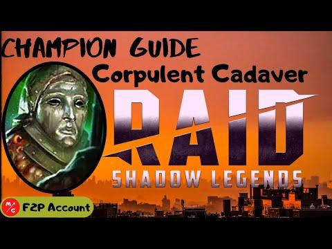 [F2P] CORPULENT CADAVER Raid Shadow Legends Champion Guide | Underrated Rare Champion?