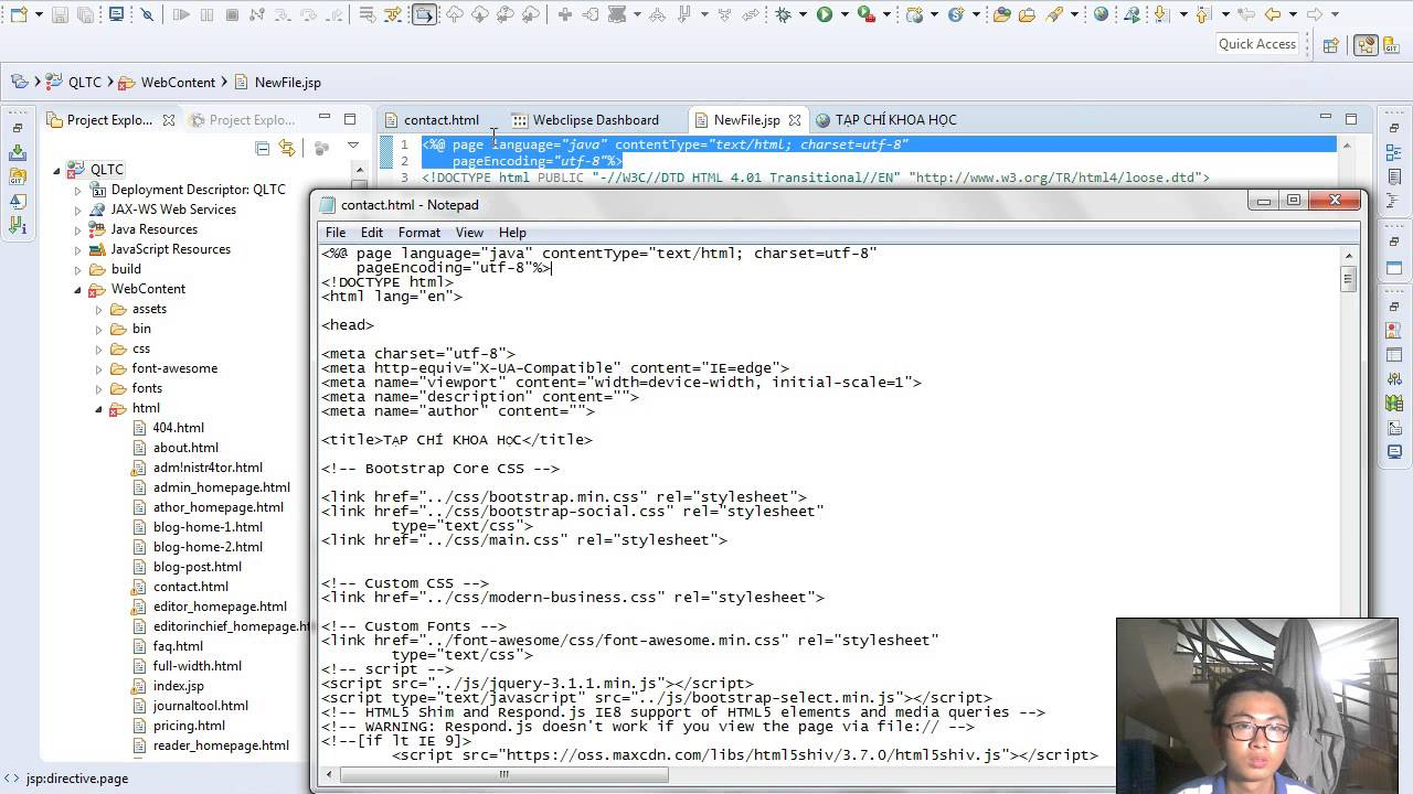 Demo Convert Html To Jsp File In Eclipse Youtube