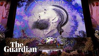 Rapper Nipsey Hussle remembered at LA memorial service