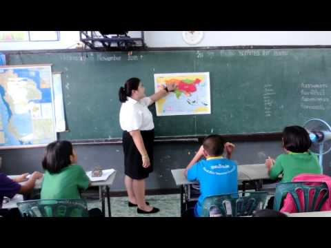 การสอนแผนที่ทวีปเอเชีย