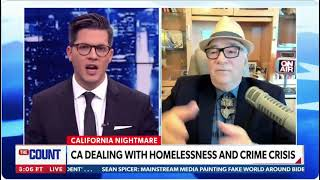 SAVAGE ON NEWSMAX!  OCTOBER 23 - Homeless, shoplifters, smash-and-grabs - all in liberal-run cities!