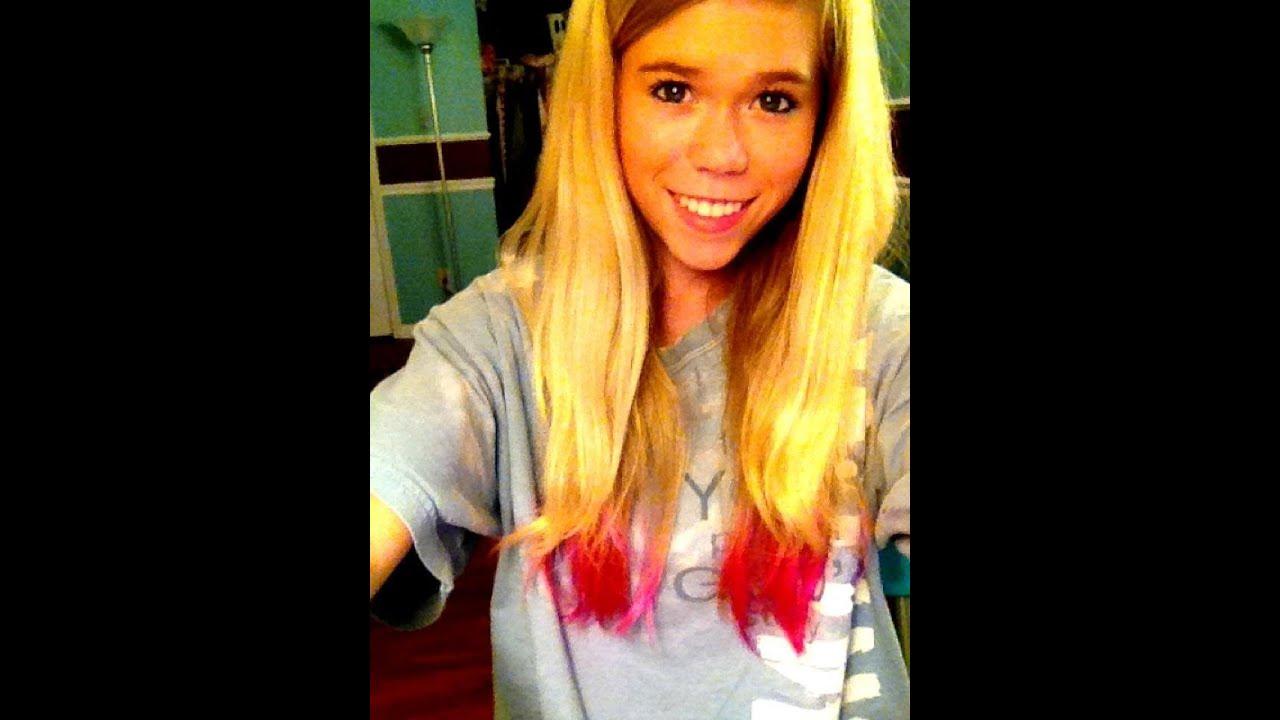 Dip Dyeing My Hair Pink Youtube