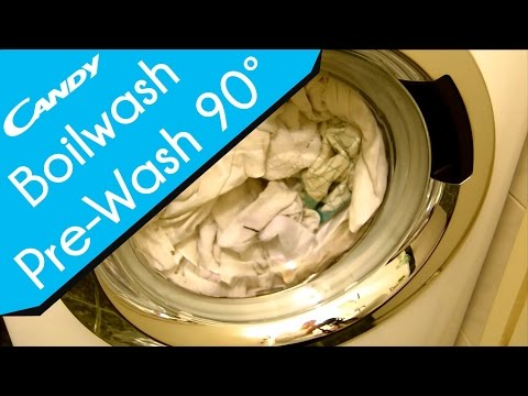 Candy GrandO Simply|Fi washing machine - Boilwash cottons 90° with Pre-wash