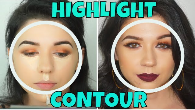 How To Highlight And Contour Round Face Youtube
