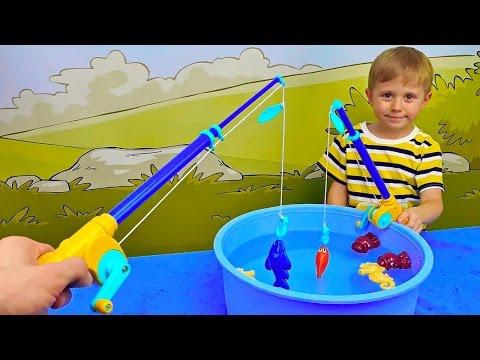Рыбалка Баттат для детей и Даник - Развлекательное детское видео с игрушками Battat