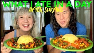 What I Ate In A Day After Surfing [High Carb Vegan]