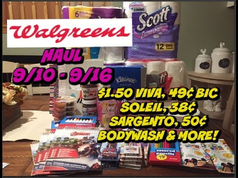 WALGREENS COUPON HAUL VIDEO 9/10 - 9/16 | $1.50 VIVA, 38¢ SARGENTO & MORE!