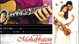 Mohabbatein Love Theme   Easy Guitar Tutorial   With written Tabs   Golden Melody