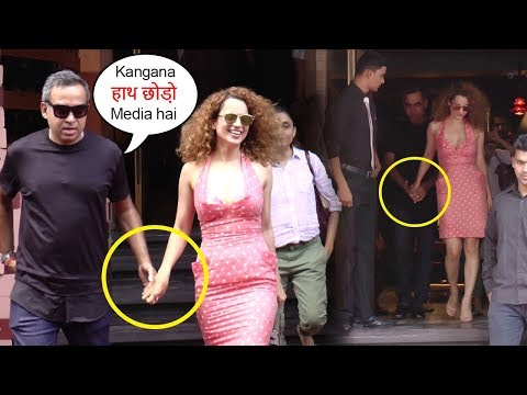 Kangana Ranaut Forces Boyfriend To Hold Her Hand In Front Of Media