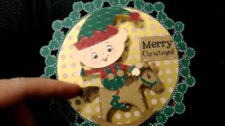 Merry Christmas Elf On Rocking Horse