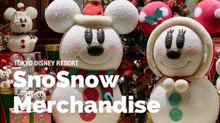 SnoSnow Merchandise at Tokyo Disneyland for Christmas