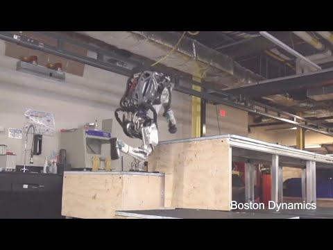 Boston Dynamics - Atlas Robot Clearing Basic Obstacle Course [1080p60]