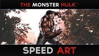 Speed Art - THE MONSTER HULK (#Photoshop)