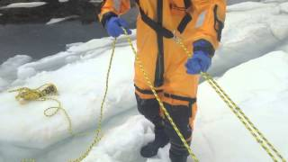 Self Belay for Work or Rescue On Ice