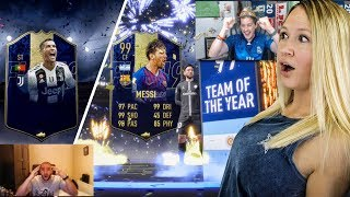 99 toty ronaldo and 99 toty messi in a pack fifa 19