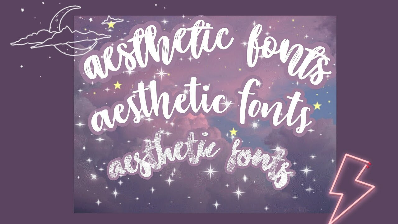 20 aesthetic font for editing 2020 🌉 - YouTube