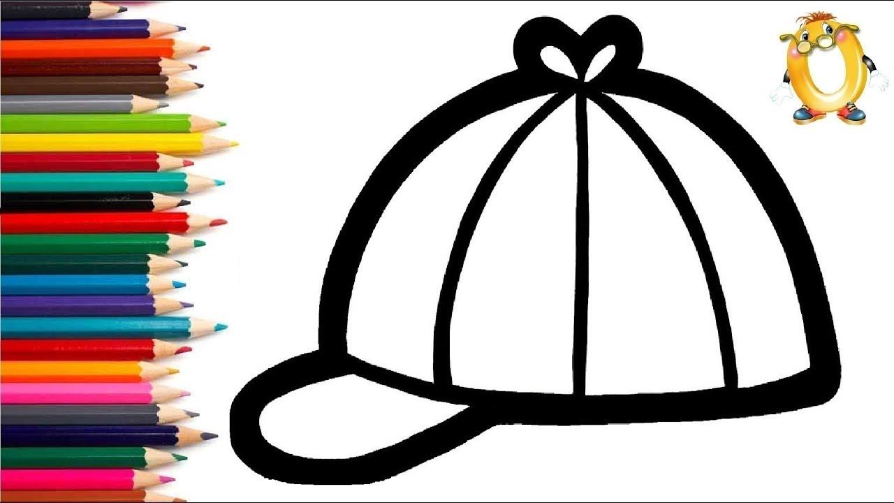 Раскраска для детей КЕПКА. Мультик - Раскраска. Учим цвета ...