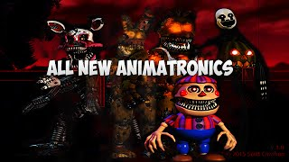 - ВСЕ НОВЫЕ АНИМАТРОНИКИ All New Animatronics FNAF 4 Halloween Edition