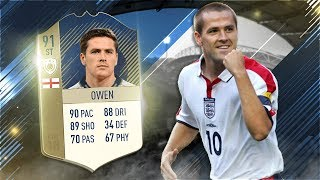 FIFA 18 Prime Icon Owen Review - 91 Icon Michael Owen Player Review - Fifa 18 Gameplay