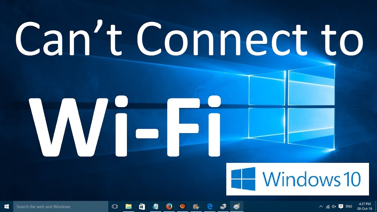 windows cannot connect to wifi
