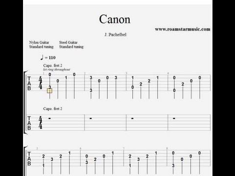 CANON IN D ACOUSTIC GUITAR TAB EBOOK