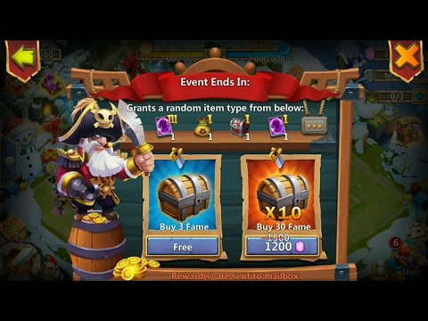 Castle Clash - Piratebooty | F2p | Great Session-4500 Gems | Best Reward😎