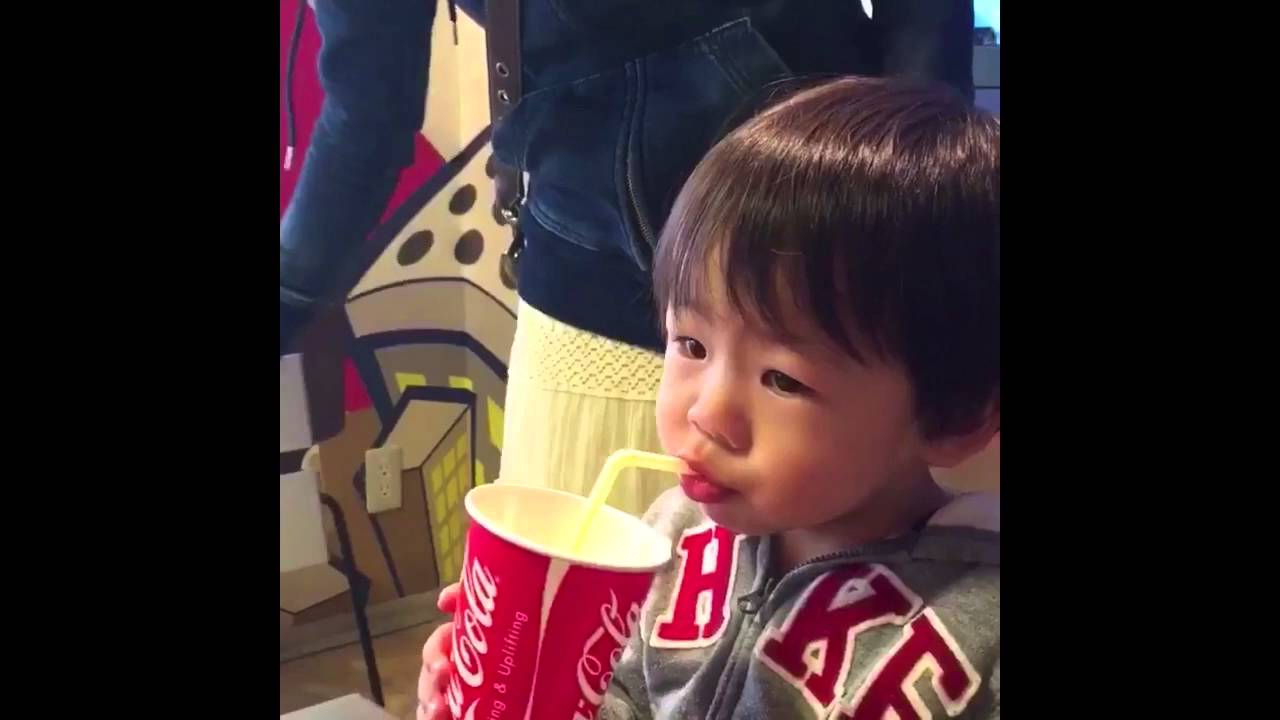 Little Boy Tries To Drink From A Straw Youtube