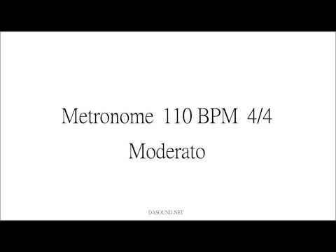 Metronome 110 BPM 4/4 Moderato