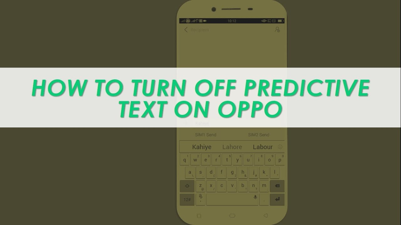 How to Turn off Predictive Text on OPPO
