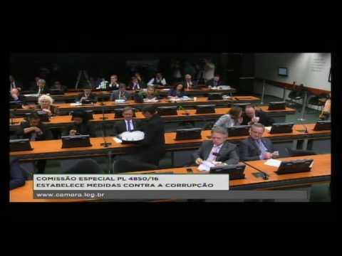 PL 4850/16 - ESTABELECE MEDIDAS CONTRA A CORRUPÇÃO - Reunião Deliberativa - 04/10/2016 - 09:48