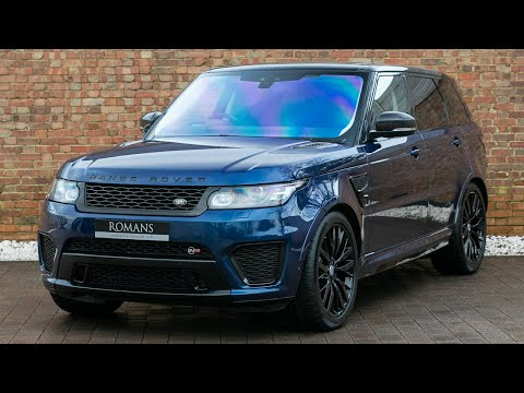 2017 Range Rover Sport 5.0 SVR - Balmoral Blue - Walkaround, Interior & Exhaust Sound - High Quality