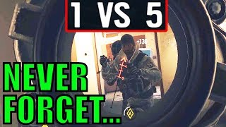 UNFORGETTABLE 1V5! (Best Of The Year) - Rainbow Six Siege Gameplay