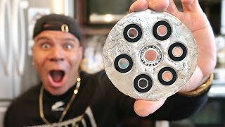 DIY GIANT GALLIUM FIDGET SPINNER!! (WORLD'S FASTEST)