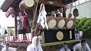 平成29年5月21日に行われた、「熊谷うちわ祭」本石区の屋台創建80周年記...