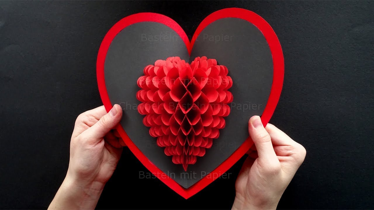 Weihnachtskarten Basteln Mit Demenzkranken Pop Up Card Heart Diy Valentine S Day Heart Pop Up Card Pop Up Card Mother S Day