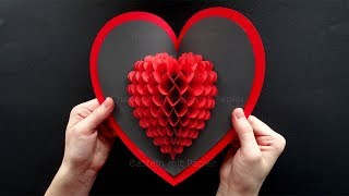 Pop Up Card: Heart ❤ DIY Valentine's Day Heart Pop-up Card ❤ Pop Up card Mother's Day