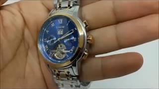 Механические часы с автоподзаводом LIGE MECHANICAL видео обзор