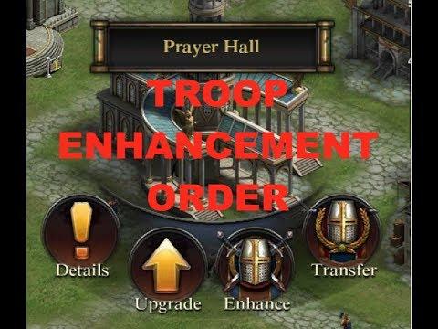 Clash Of Kings : Prayer Hall Troop Enhancements Order